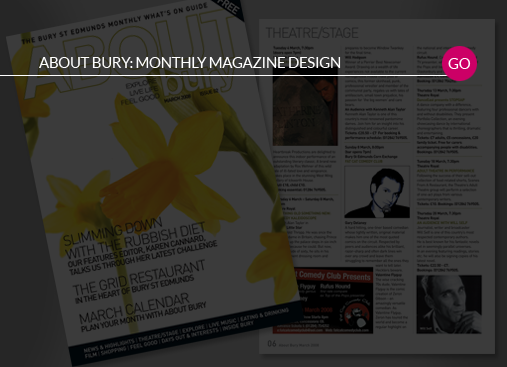 About Bury Monthly magazine design