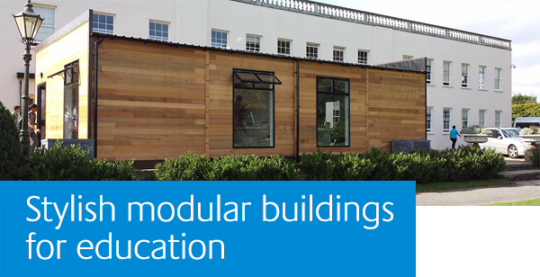 Stylish modular buildings for education